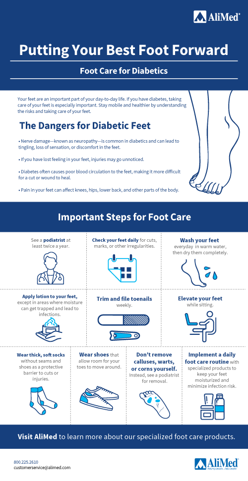 Diabetic Foot Care Foot Care Tips Alimed
