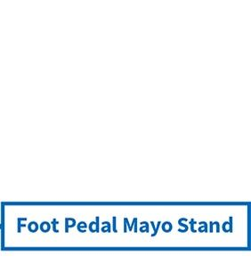 foot pedal mayo stand