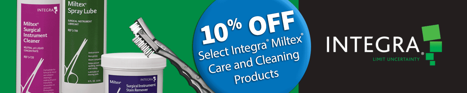 10% off Select Integra Miltex Care and Cleaning Products