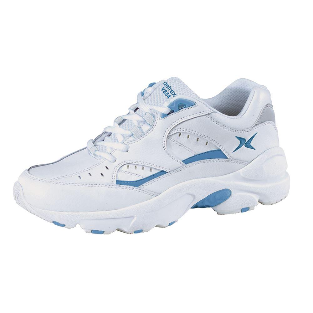 Apex® Walker V854 White/Periwinkle, Women's