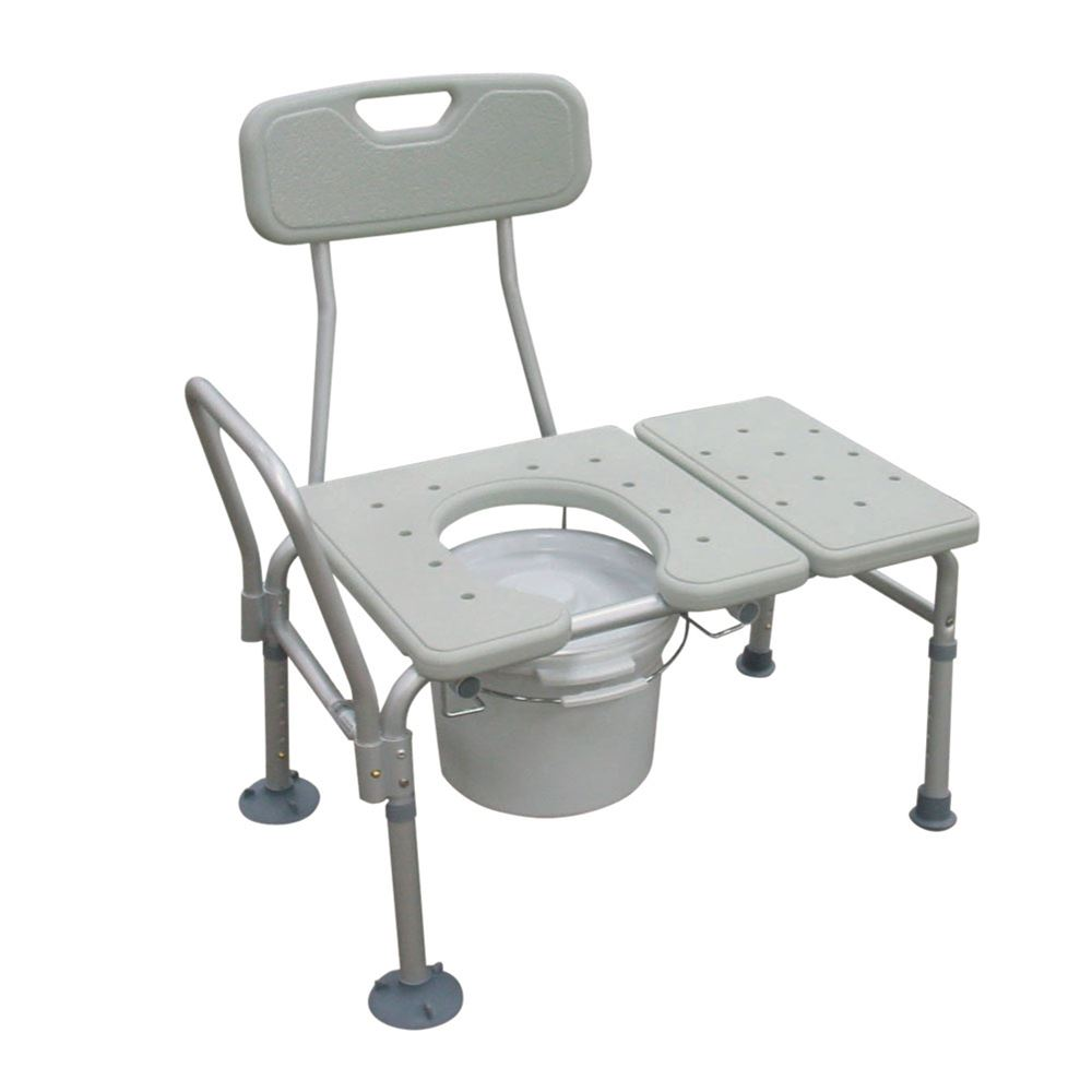 Bathtub Transfer Bench with Commode by Drive Medical