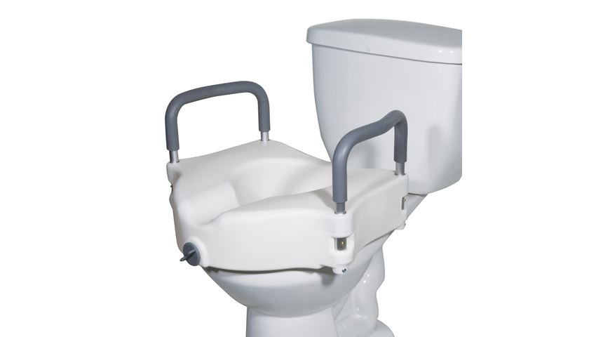 Drive Medical Two-in-One Locking Elevated Toilet Seat