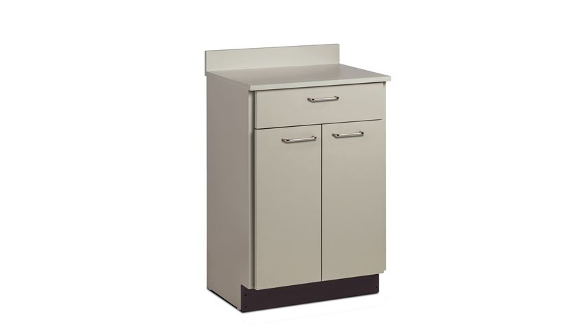 Clinton™ Treatment Cabinet, Stationary, Laminate Top, 2 Doors/1 Drawer