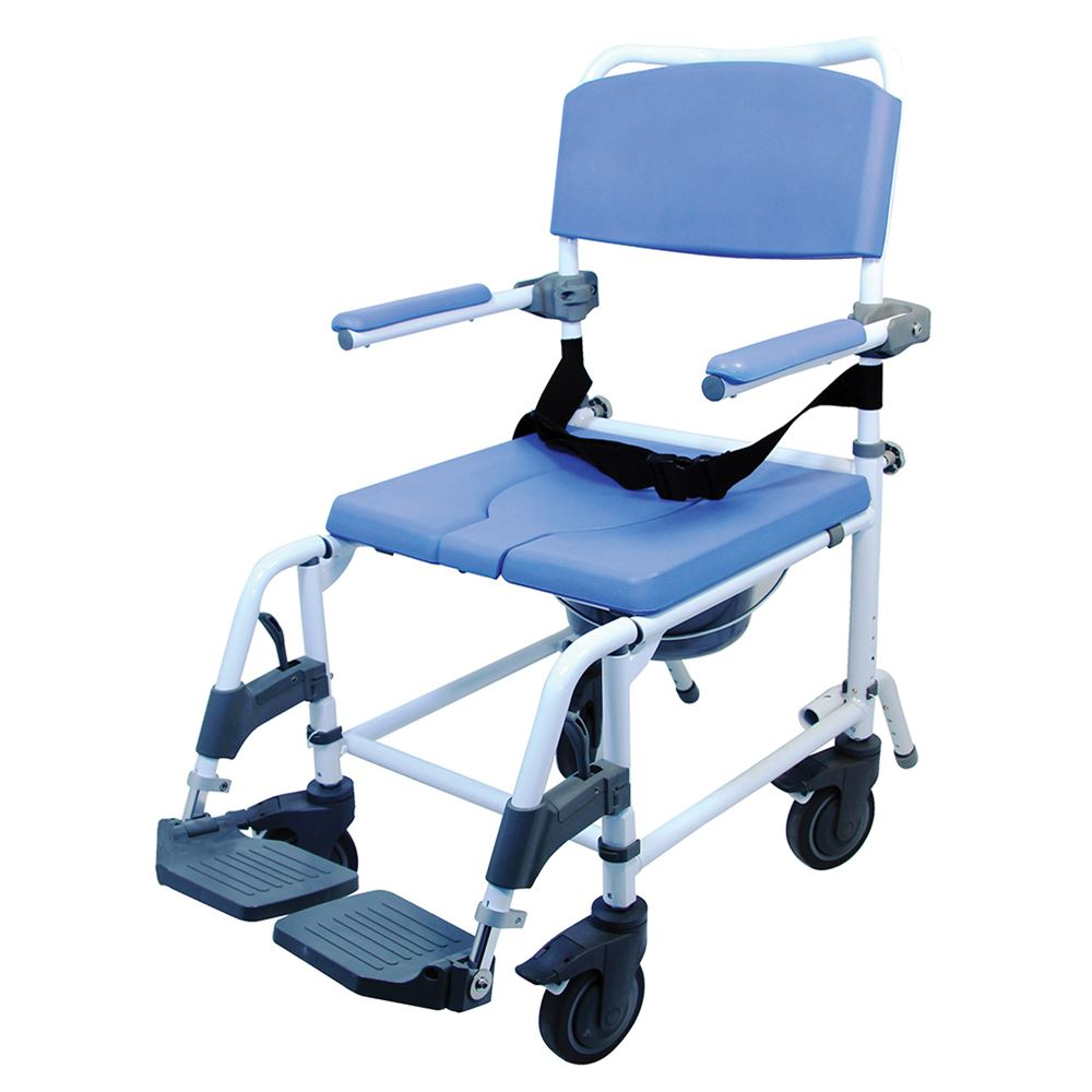 Healthline EZee Life Aluminum Shower-Commode Chair