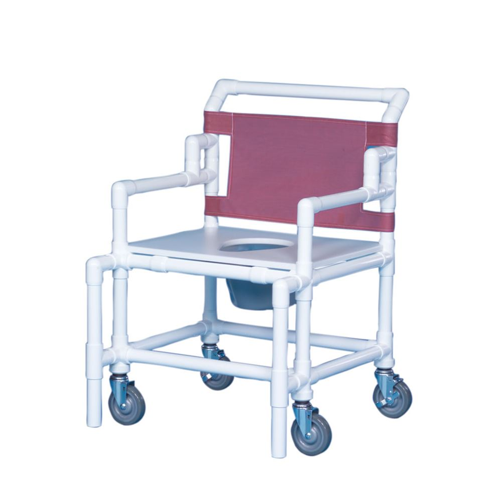 Bariatric Shower Commode Chair, 550 lb. Wt. Cap.