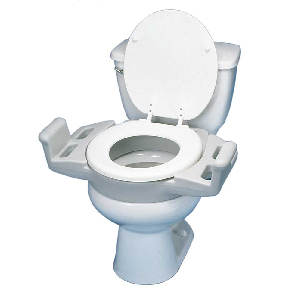 Awesome Elevated Push Up Toilet Seat With Armrests Dailytribune Chair Design For Home Dailytribuneorg