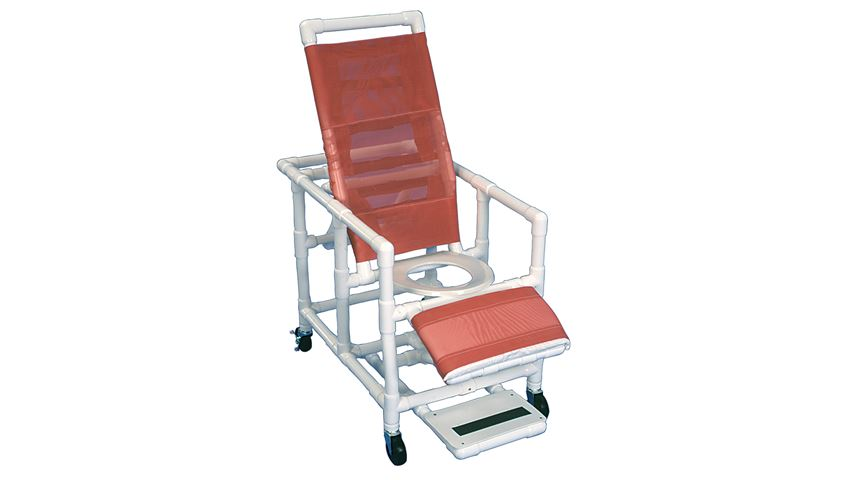 Healthline® Reclining PVC Shower Commode Chair