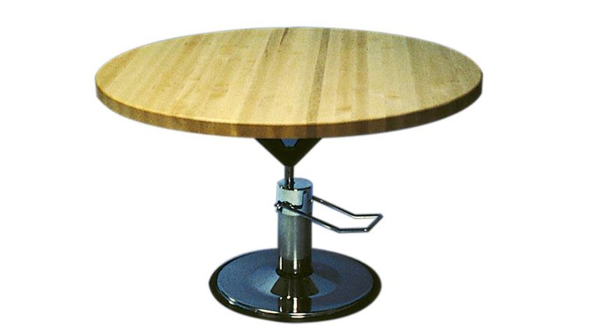 Circular Hi-Lo Worktable