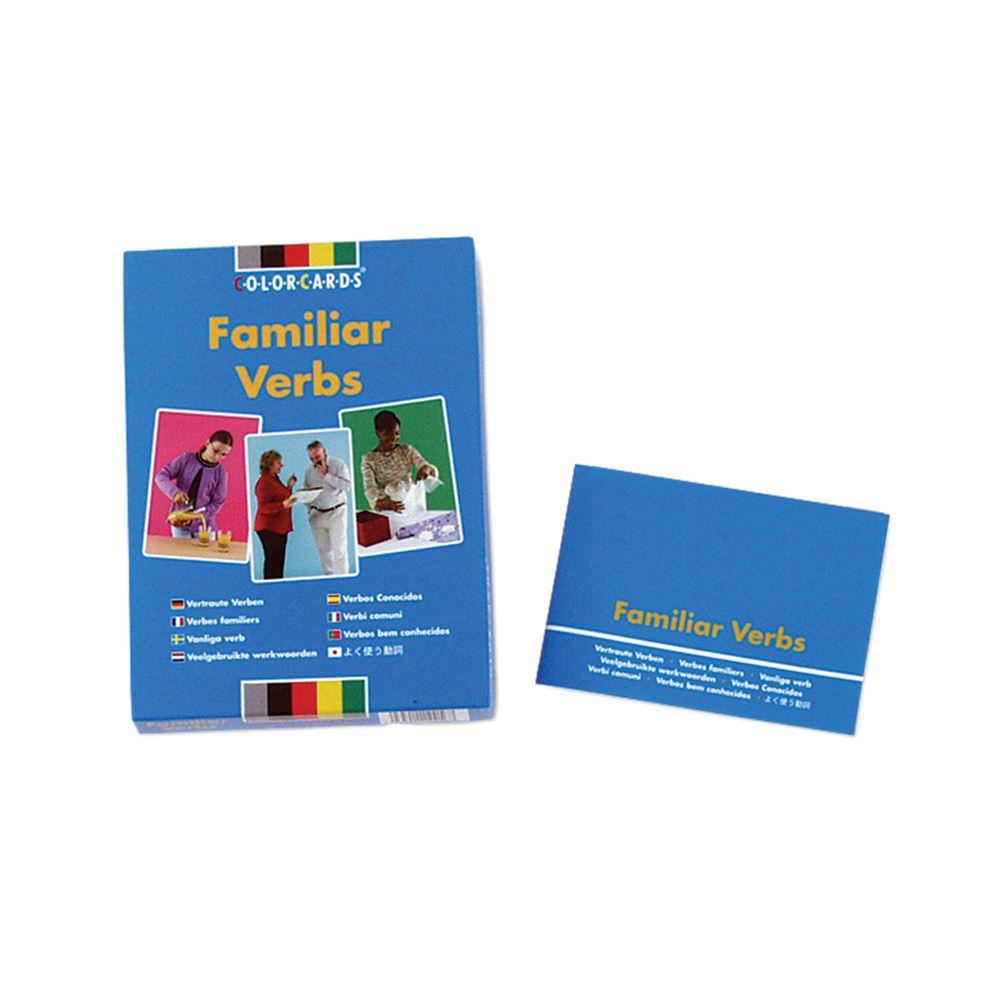 speechmark colorcards famiiar verbs
