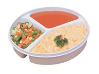 3-Compartment Scoop Dish