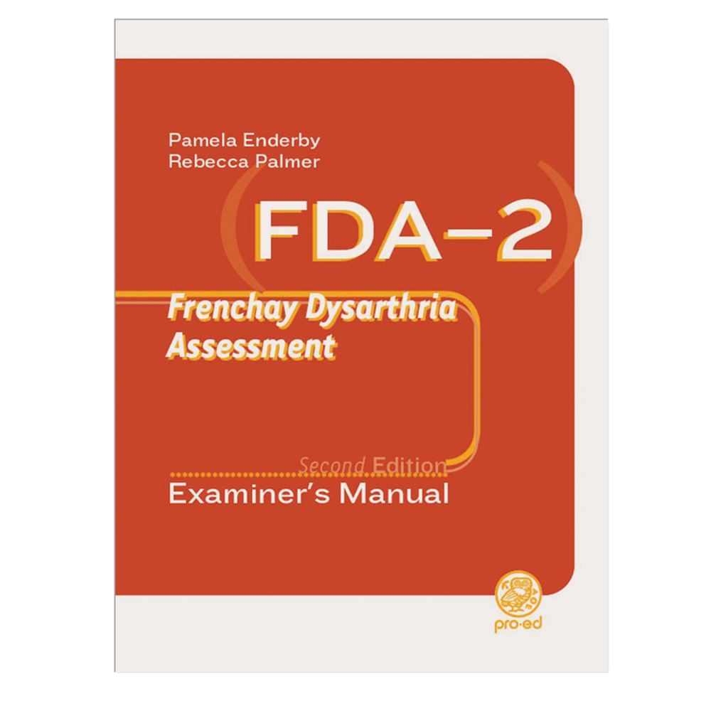 frenchay dysarthria assessment second editon fda 2