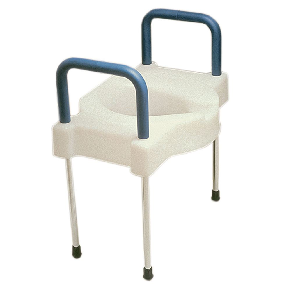 Elevated Toilet Seat w/Safety Bars