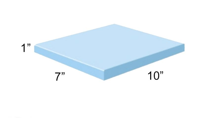 AliMed® Vinyl-Covered Rectangle Polyfoam Positioner, 1