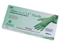 "Medline® Aloetouch® Powder-free 12"" Nitrile Exam Gloves"
