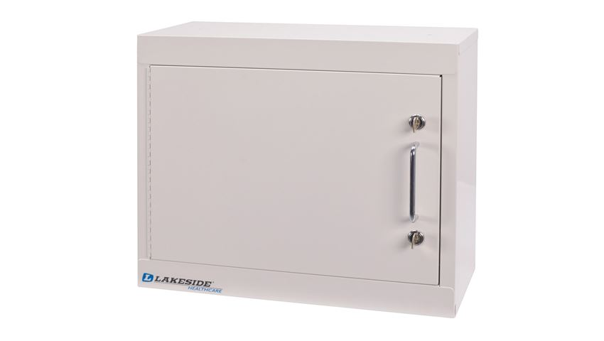Lakeside® Single Door, Double Lock Narcotics Cabinet, Short, 18