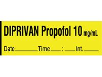 Diprivan Propofol Labels, Tape Roll or Pre-Cut Roll