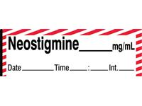 Neostigmine Labels, Tape Roll or Pre-Cut Roll