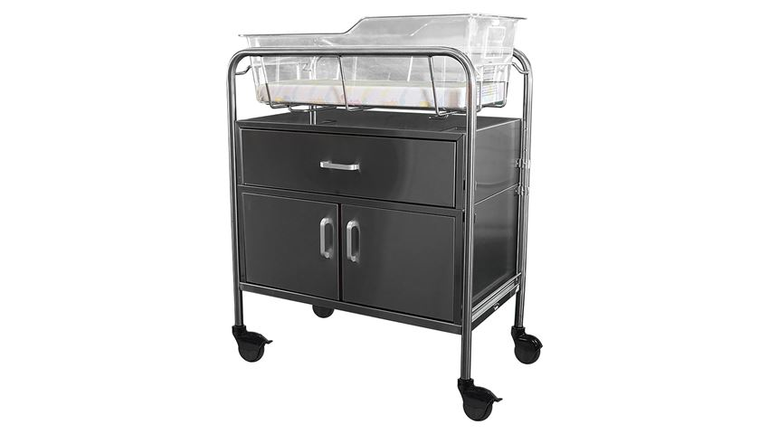 Novum Medical Bassinet with Drawer and Cabinet