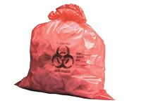 High- and Low-Density Red Biohazard Bags