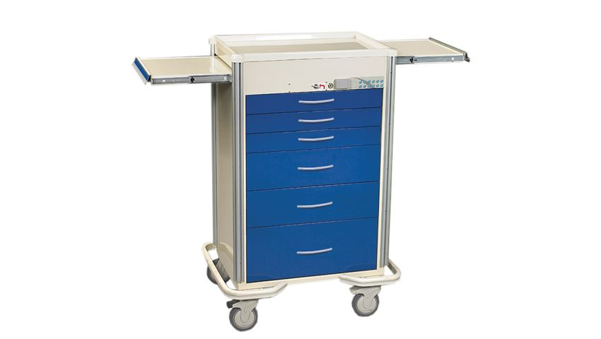 AliMed® 6-Drawer Select Series Anesthesia Cart, Key Lock, 12-yr. Warranty