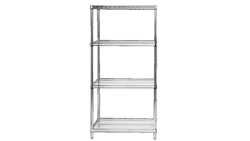 Quantum® Chrome Wire Starter Shelving Unit