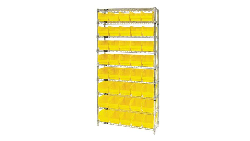 Quantum® Wire Shelf Bin Systems