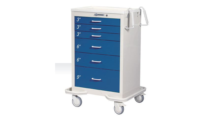 AliMed® Quick-Ship 6-Drawer Anesthesia Cart