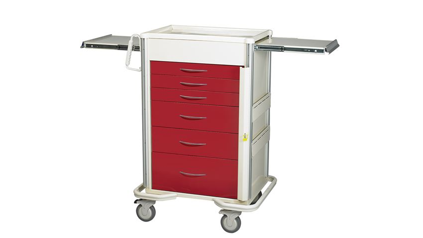 AliMed® Select Series 6-Drawer Emergency Cart, 30