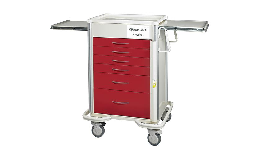 AliMed® Select Series 6-Drawer Emergency Cart, 27