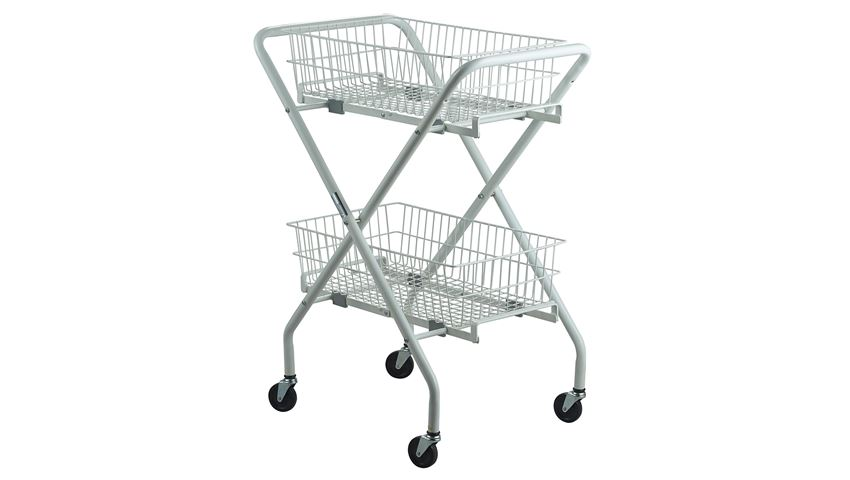 Multipurpose Brewer Folding Wire Basket Utility Cart