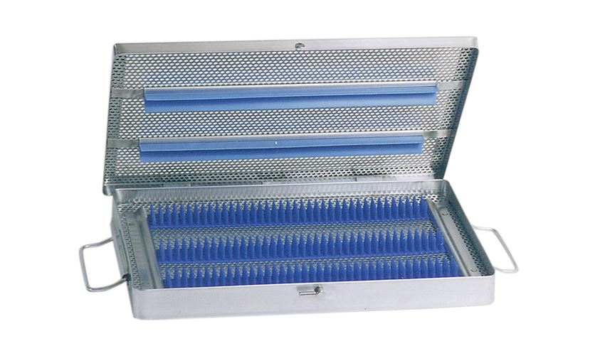 Lidded Micro Sterilization Tray with Handles