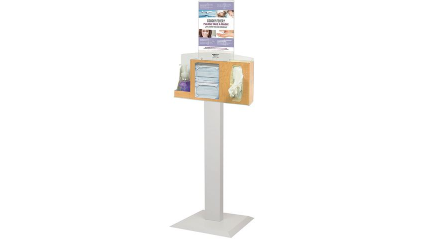 Bowman® Cover Your Cough Compliance Kit, Stand, Hand Sanitizer Holder, Vertical Sign Holder