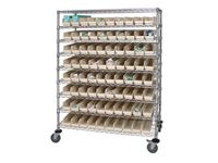 Quantum Storage Catheter Cart with Clear Bins