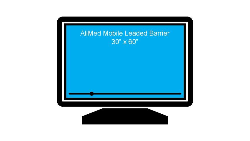 AliMed® Mobile Leaded Glass Barriers