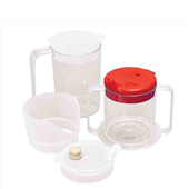 Clear Mugs with 2 Lids