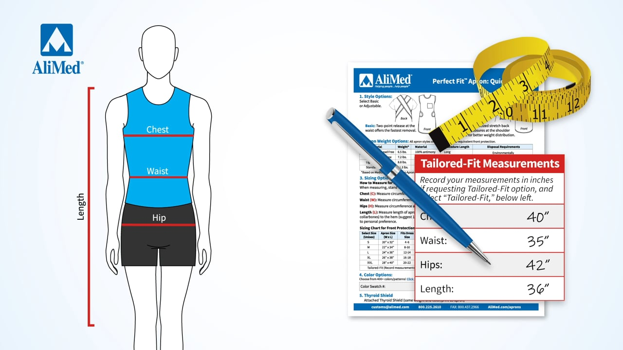 Measuring for AliMed® Perfect Fit™ Aprons