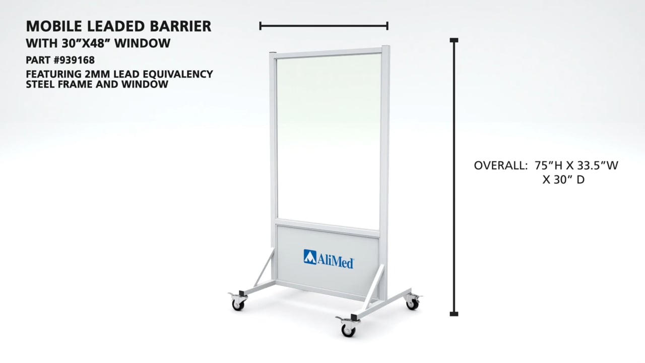 "AliMed Mobile Leaded Barrier Video (30"" x 48"" Window)"