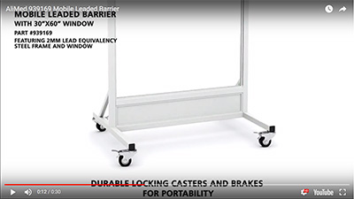 AliMed Mobile Leaded Barrier